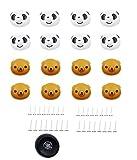 JZK 16 x Panda e Orso puntine Ferma piumone Piumino Magnetico Letto e copripiumone Clip blocca Piumino mollette Copripiumino con scatolina