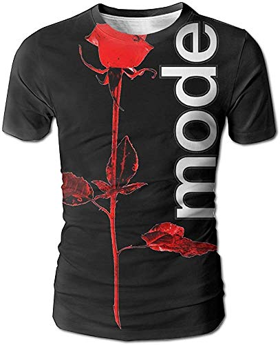Depeche Mode Herren 3D All Print Kurzarm T-Shirt M