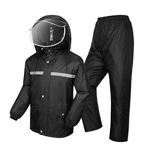 YDS Shop universeel waterdicht universeel pak, regenjas + regenbroek, voorruiten/opstaande kraag design, outdoor-werk, vissen, wandelen kan hergebruikt worden. X-Large