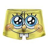 Spong-Ebob Men's Beach Swimming Trunks Boxer Brief Swimsuit...