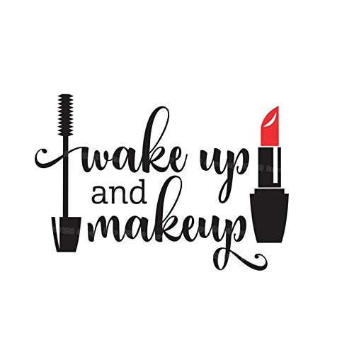 Zkpyy Make-up Vinyl muur Stickers Meisje Badkamer Spiegel Vanity Decal Waterdichte Lip Balm Mascara Decal Schoonheidssalon 29X20Cm