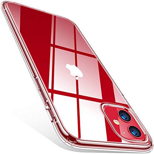 TORRAS Crystal Clear für iPhone 11 Hülle (Echte Vergilbungsfreiheit) Hochwertiges Weich Silikon Handyhülle iPhone 11 (Ultra Dünn und Leicht) Transparent Kratzfest Schutzhülle iPhone 11 Hülle Transparent