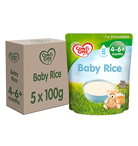 Cow & Gate Baby Rice Cereal, 4-6+ Months, 100 g, Pack of 5