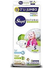 Sleepy Natural 2'li Jumbo Bebek Bezi, 5 Beden, Junior, 48 Adet