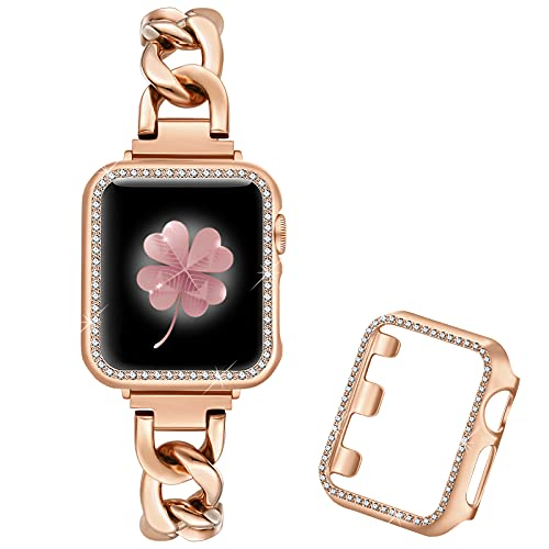 Dilando Cool Chain Metal Link Bands Compatible with Apple Watch 38mm...