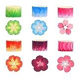 BELIOF6 Rolle Papier Blütenblatt Sticker Washi Tape Flower Aufkleber Sakura Washi Klebeband Blütenblätter Papierbänder Dekoband mit Blumenblütenblättern für DIY Scrapbooking...