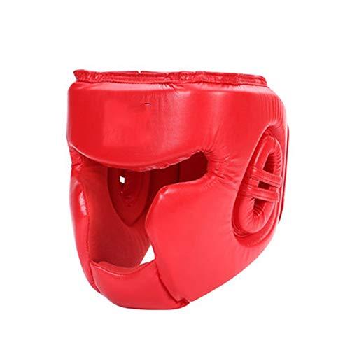 ZzheHou Casco De Boxeo Casco Boxeo Partido Guardia Cabeza Completa Cerrado el Boxeo Sanda Casco Protector Lucha Taekwondo Gear Protector de Cabeza Equipo De Protección De Entrenamiento