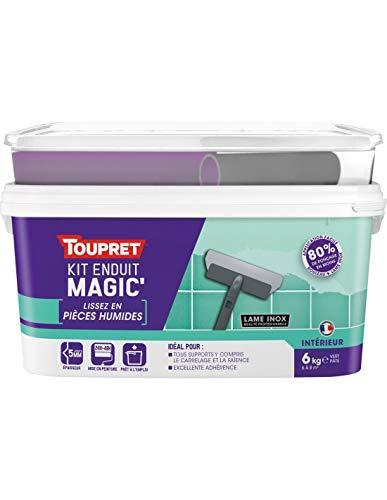 Toupret Kit Enduit Magic'pièces Humides Pâte 6 Kg
