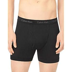 Calvin Klein Men's Underwear Cotton Classics Boxer Briefs - Medium - Black (Pack of 3)