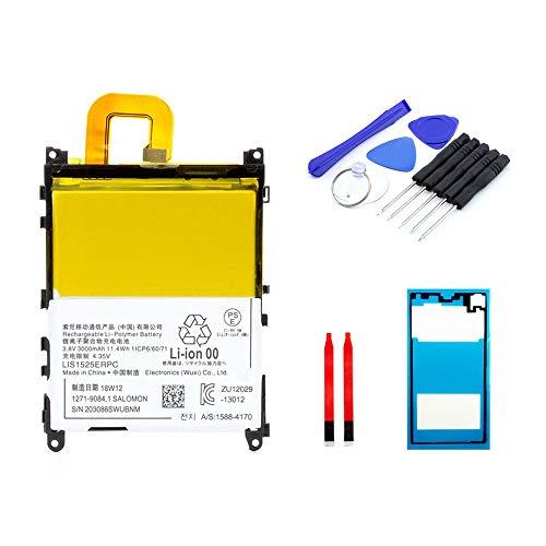 kaputt.de AKKU Set Batterie für Sony Xperia Z1 | 3000 mAh | 3,8 V | LIS1525ERPC | Reparaturset