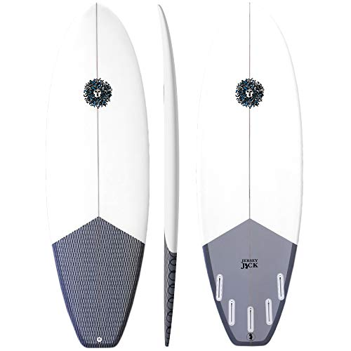 KONA SURF CO. Custom Groveler Shortboard Fiberglass Hard Surfboard for Adults, Kids and Beginners - Ideal Board for Surfing Small to Medium Waves - All Boards Include Fins and Leash
