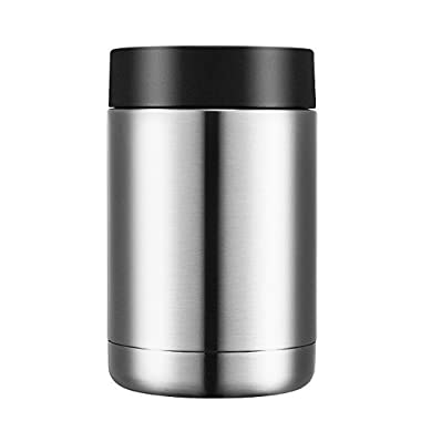 Homitt Stainless Steel Can Cooler Beverage Can Insulator Double Walled Vacuum Insulated Beer Coozies for Standard 12 OZ Cans and Bottles