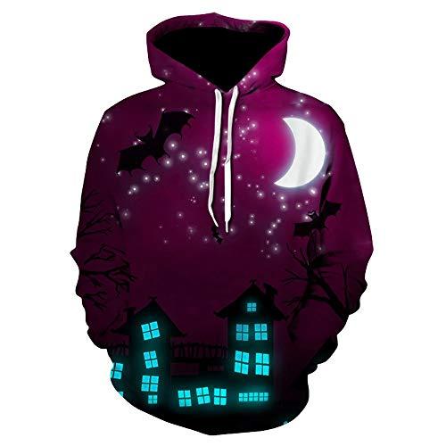 Auifor Halloween vrouwen mannen Ghost 3D print lange mouwen hoodie sweatshirt trui top