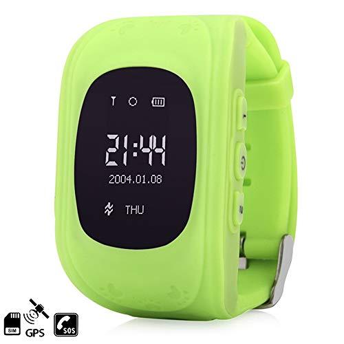 DAM Tekkiwear Q50 - Smartwatch para Niños con Función SOS, Verde