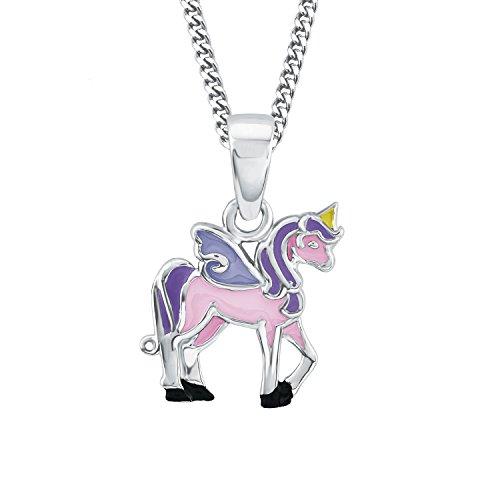 Prinzessin Lillifee Niños de cadena con colgante Unicornio Rosie 925plata rodio Esmaltado 38cm–2013154