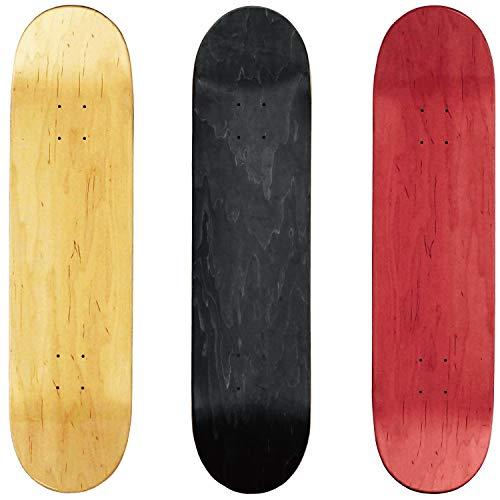 オーエムジー(OMG!) スケートボード エリート ブランク 7.0インチ デッキ スケボー 木目 無地 ナチュラル 1...