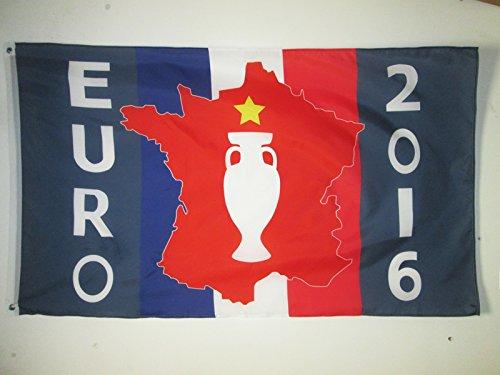 Drapeau Euro 2016 de Football 90 x 60 cm oeillets Haute qualité