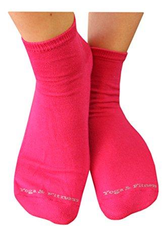 Weri Spezials Femmes ABS Yoga Fitness Chaussettes 39-42 Pink