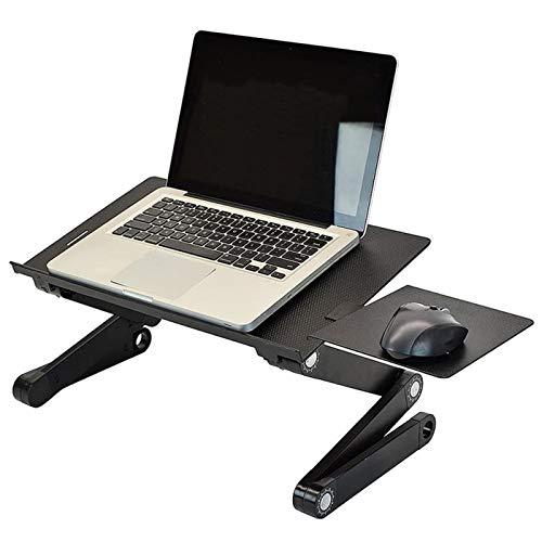 HERVI Es klappt Verstellbarer Laptop Schreibtisch, Leichter Tragbarer Zusammenklappbarer Notebook Ständer zum Arbeiten, Lesen, Schreiben für Kinder und Erwachsene