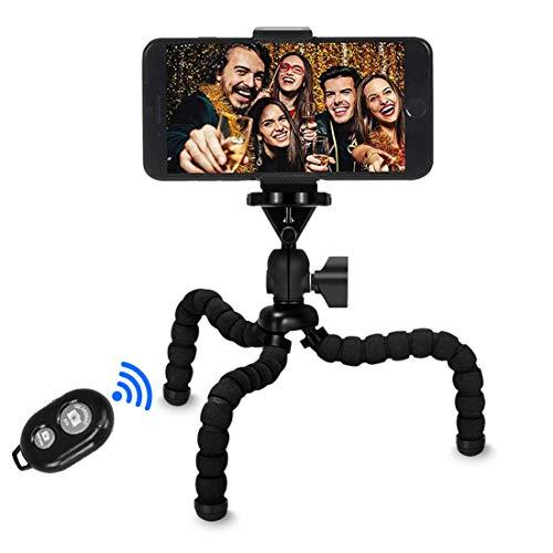 【VIUME】三脚 スマホ カメラ 自由雲台 自撮り ミニ三脚 Bluetooth リモコン付き どこでも固定できる 軽量 ...