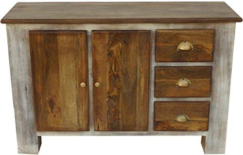 Guru-Shop Ladekast, Zijkast, Ladekast, TV-kast van Gerecycleerd Hout - Model 1, Bruin, 85x130x45 cm, Ladekasten Dressoirs
