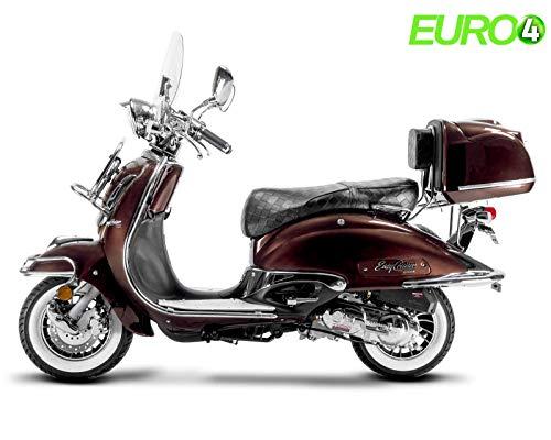 Retro Roller Easy Cruiser Chrom 25 km/h Mofa 50 ccm mokkabraun Motorroller Scooter Moped Easycruiser braun