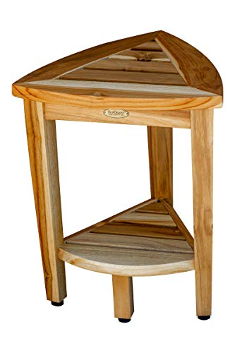 EcoDecors Oasis Shower Stool, 18Lx14.75Wx18.5T, Natural