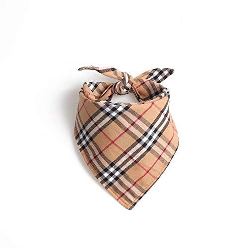 halsbanden voor honden, bruin Britse stijl driehoek sjaal bandage speeksel handdoek Gentleman zacht veilig huisdier hond kraag voor alle seizoenen ademende gevoerde zachte gezellige lichtgewicht outdoor wandelen training halsbanden, S32*32*50