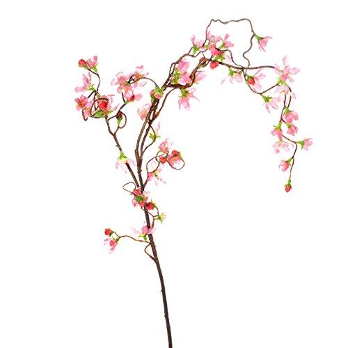 Country Baskets Décoration d'extérieur en Forme de Branche de Cerisier pleureur Rose