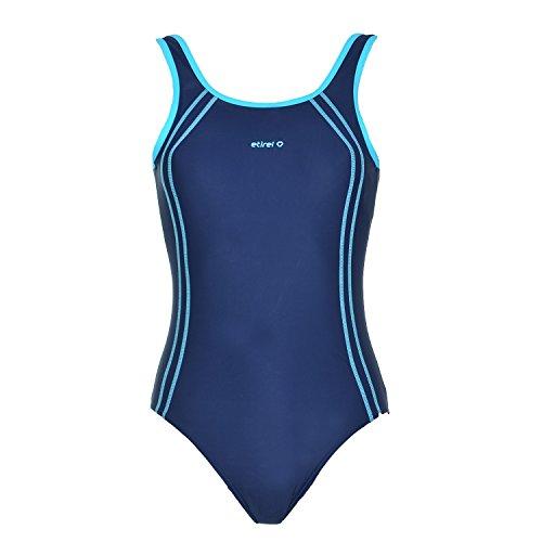 etirel Bonnie Damen Badeanzug Schwimmer Schwimmanzug 228697 vers. Farben, Größe:36;Farbe:Navy/Blue