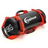 EYEPOWER 3,75-15 kg Power Bag 18x50 cm Saco de Arena Entrenamiento con Pesa Rojo