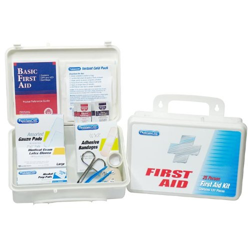 First Aid Only 25 Person Office First Aid Kit, 131 Pieces, Plastic Case