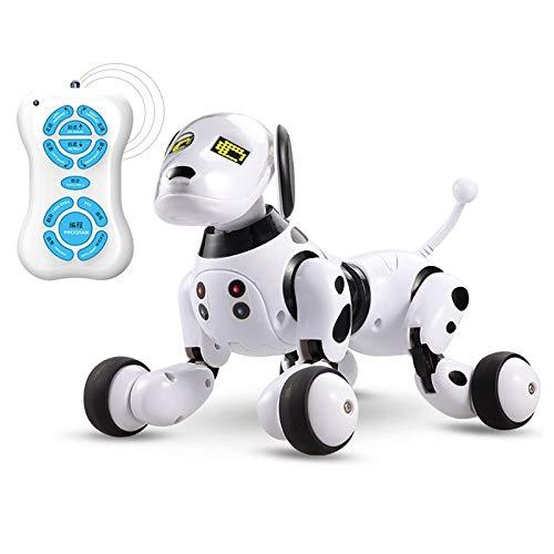 Frühe Bildung for Eltern-Kind-Interactive Intelligent Sensing Roboter-Hund Haustier-Spielzeug (schwarz weiß) Huangchuxin (Color : Black White)