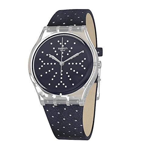 Swatch Reloj Analógico para Mujer de Cuarzo con Correa en Tela GE262