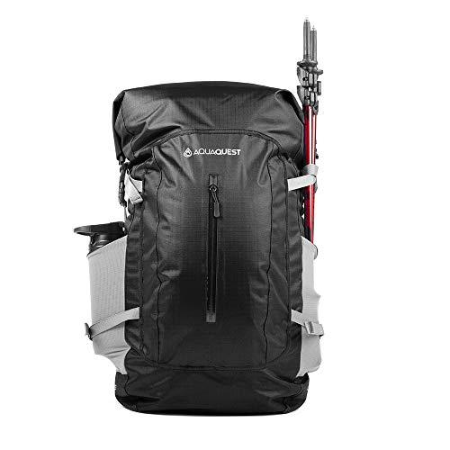 Aqua Quest Riparia Wasserdichter Rucksack - Extra große 45-l-Tasche mit Rollverschluss - Schützen Sie Ihren Laptop für Universität und Schule - Schwarz