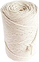 MB Cordas Macrame Cord Rope 3mm 140m - Soft Cotton String for Macrame Dream Catcher, Boho Wall Hanging Feather, Plant...