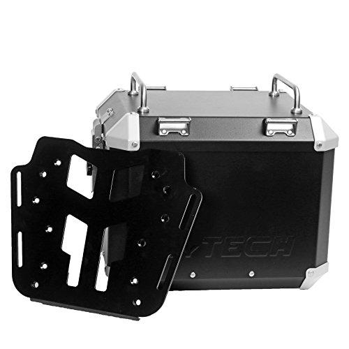 MyTech - Kit Top Case 33 litros negro con placa de fijación para - BMW R 1200 GS refrigeración por aire