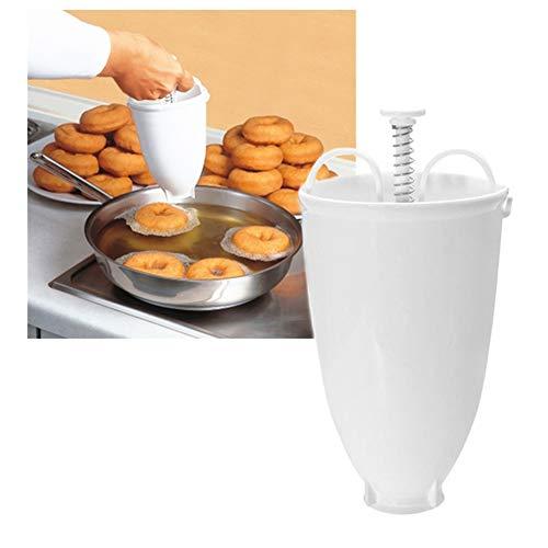 ikasus Donut Maker, Donut Backform, Plastic Donut Mould Dispenser Pfannkuchen Teigspender für Donuts, Donutmaker DIY Werkzeug Küche Gebäck Backwaren Backwerkzeuge für köstliche Mini Doughnuts,Weiß