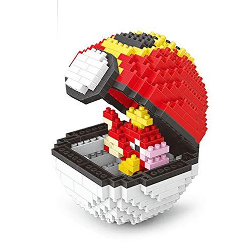 Hengqiyuan Pokemon Puzzle 3D, Nano Bausteine Bauklotz Modell Baustein Satz Kugel Mini Blöcke Spielt, 3D DIY Pädagogisches Spielzeug Für Kinder Geeignet,E
