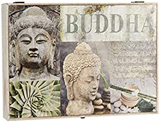 D,casa - Tapa de Contador diseño Oriental Buda Multicolor Cuadro de luz, cubrecontador