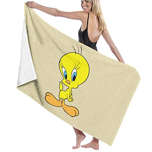 FSTGFFST Tweety Strand Handtücher Ultra saugfähig Mikrofaser Badetuch Picknickmatte für Männer Frauen Kinder