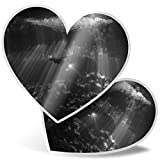 Impresionante 2 pegatinas de corazón de 15 cm BW – Buceo Buceo México Cueva Diver calcomanías divertidas para computadoras portátiles, tabletas, equipaje, libros de chatarra, neveras, regalo genial #43499