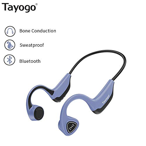Knochenleitungskopfhörer, Bluetooth 5.0 Wireless Bone Conduction kopfhörerfür Laufen, Radfahren, Laufen-Blau