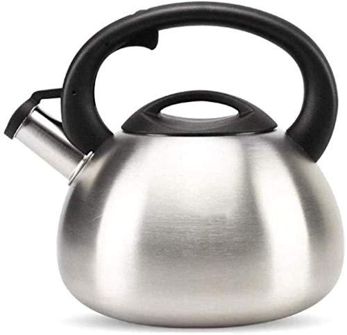 Tetera hervidor de acero inoxidable de 3,5 L, resistente al calor y a la corrosión, fácil de limpiar, hervir rápido, cocina de inducción, tetera universal de metal, taza de té