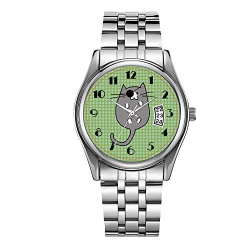 Orologio da uomo di lusso 30 m impermeabile data orologio maschile sport orologi uomini quarzo casual orologio da polso di Natale carino Halloween gatto pirata costume orologio