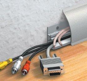 Kabelkanal Sockelleiste/Fußbodenleiste in 6 Dekoren [ALU, 10m]