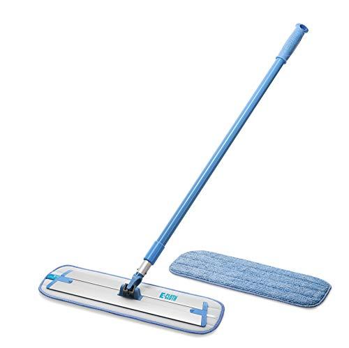 E-Cloth Deep Clean Mop & Extra Mop Head, Microfiber Damp Mop, 2 Item Set