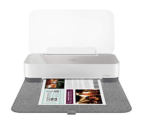 HP Tango X Smart Home Drucker (HP Instant Ink, WLAN, Bluetooth, integrierte Sprachsteuerung, graues Wrap Pad, mit 2 Monaten Instant Ink inklusive) weiß/grau
