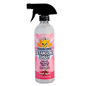 New All Natural Apple Detangling Spray | Remove Tangles While Dematting Dog and Cat Fur and Hair | Soothing Lotion with Conditioning Qualities - Made in USA - 1 Bottle 17oz  503ml