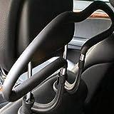 PerwinkLuQ - Perchas para ropa de coche, reposacabezas de coche, color negro